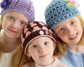 PATTERN Crochet The Beanie Collection II 3 Hats Instant Download