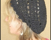 PATTERN Retro Rings Crochet Tam Slouchy Hat Instant Download