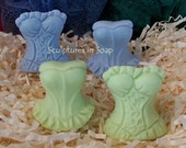 Corsets 2 Silicone Mold Set Soap Molds DIY Craft Molds Wedding Favors Shabby Chic Womens Corset Fashion Lingerie Design