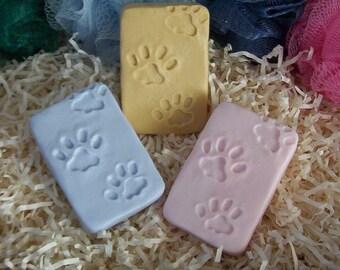 Dog Paw Prints Dog Tracks Handmade Original Puppy Dogs Pet Silicone Soap Mold Animal Design DIY Craft Molds High Quality