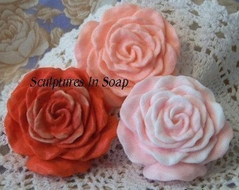 Rose Blossom Blooming Rose Flower Silicone Soap Mold Votive Candle Mold by Artist debra alouise