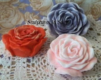 Rose Blossom Blooming Rose Flower Silicone Soap Mold Artist Debra Alouise Wedding Shower Favor Mothers Day High Quality DIY Craft Molds