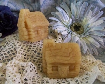 Log Cabin Primitive Silicone Soap Mold Beeswax Woodland Holiday Tart Molds DIY Craft Molds Prim Primitive USA