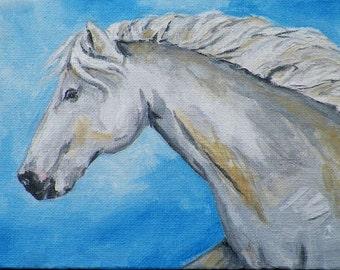 Horse Original Painting by Artist Debra Alouise Horses Pet Portrait Art