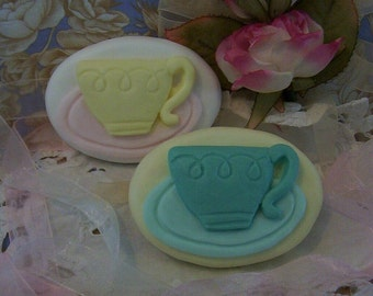 Tea Cup and Saucer High Tea Silicone Soap Mold Wedding Favors Tea Party DIY Craft Molds