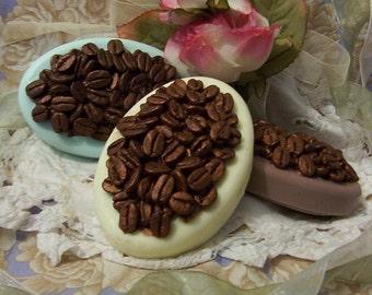 Coffee Bean Espresso Massage Bar Silicone Soap Mold Fake Faux Food Design Home Decor DIY Crafts