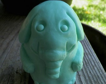 Baby Elephant Silicone Soap Mold DIY Craft Candle Mold by Artist debra alouise