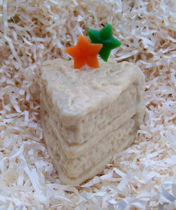 Frosted Cake Slice Silicone Candle Mold Soap Mold Handmade Design