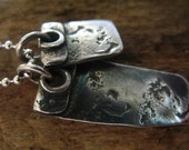 Blank Slate - Silver Tags Pendant Necklace