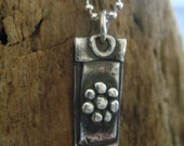 Harmony - Silver Buddha Pendant Footprints Necklace