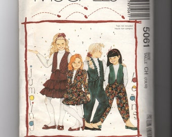 Girls' Jacket and Vest,Skirt, and Pants Pattern 5061