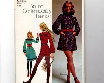 1971 Mini Dress and Shorts Pattern 9666