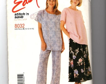 McCall's Pull-On Skirt and Pants Pattern 8032