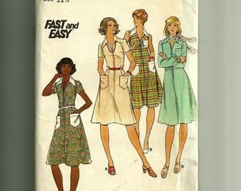 Butterick Half Size Dress Pattern 4216