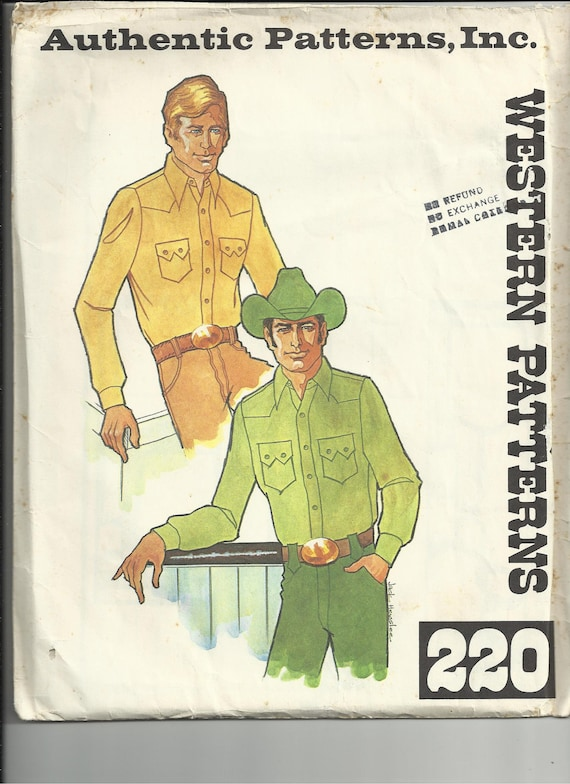 Authentic Patterns Western Shirt Pattern 220-2