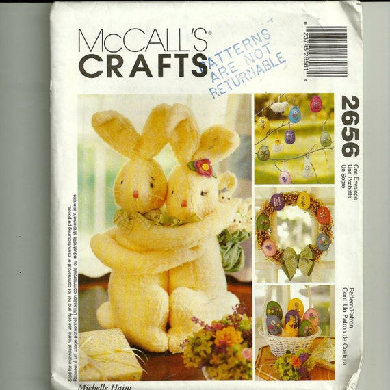 McCall's  Bunny and Wreath Pattern 2656