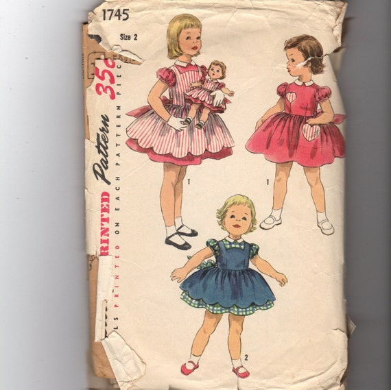 Vintage Girl Dress Pattern