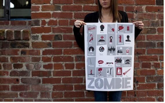 Zombie ABC Poster