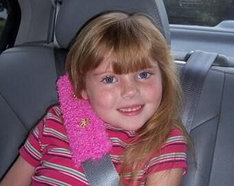 Pink Daisy Seatbelt Cozy