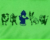 ON SALE - Dogs with Hydrant T Shirt - Unisex Size Large