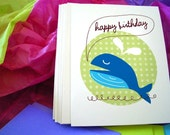 Happy Whale Birthday Notecards