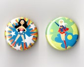 Wonder Woman and Super Girl Magnets
