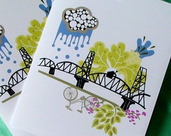 Hawthorne Bridge Notecards