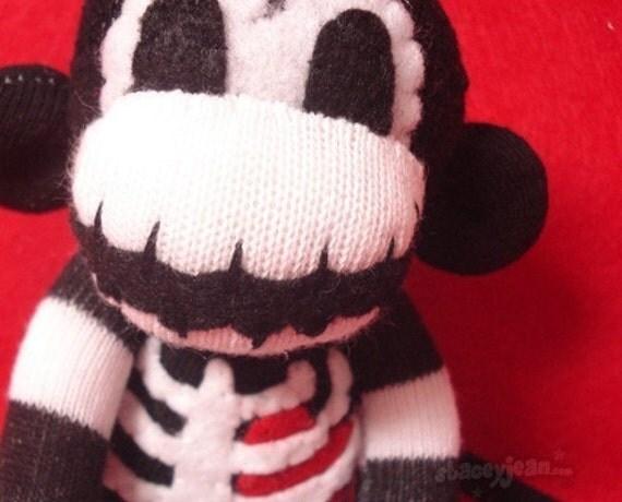 Small Macabre - 12 inch Skeleton Sock Monkey