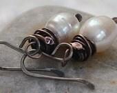 50% Off Copper Earrings Copper Jewelry Pearl Earrings