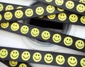 "3/8""  Happy faces grosgrain  ribbon 5 yards"