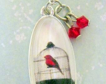 Scarlet Bird Necklace