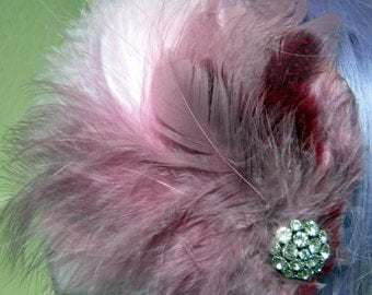 Cotton Candy feather Fascinator