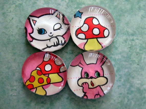 Bunny and Kitty Magnet set