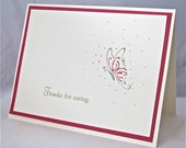 Thank you sympathy/condolence note card stamped blank butterfly stationery greeting card home and living