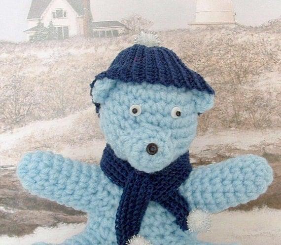 Sale - Little Winter Crochet Teddy Bear
