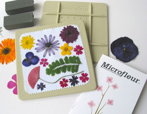 "Microfleur Microwave Flower Press 5x5"" - For Pressing Flowers in Microwave - pressed flowers"
