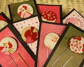 Bundle of Gift Button Bookmarks-The Bookworm's Dream