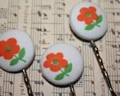 Orange Blossom Hair Pins