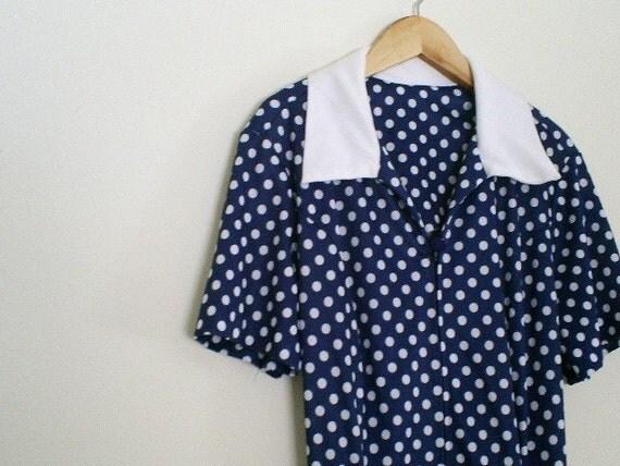 Vintage Polka Dot Dress-Sailor Love