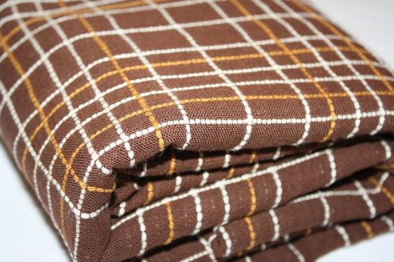 Vintage Retro Brown Bed Cover