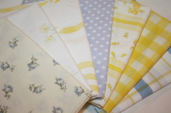 Reclaimed Bed Linens Fat Quarter Bundle- Country Kitchen