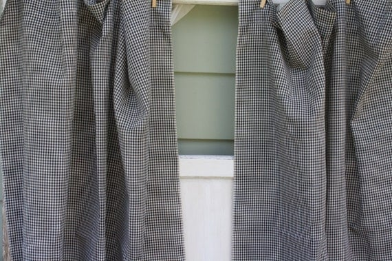 Black And White Geometric Curtains Black and White Gingham Chairs