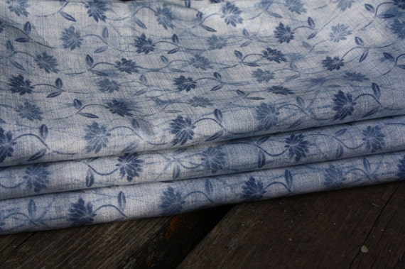 Blue Sky Flowers- Quilting Cotton Fabric