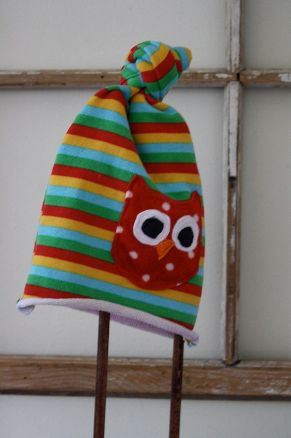 Mr Owl- Upcycled Hat