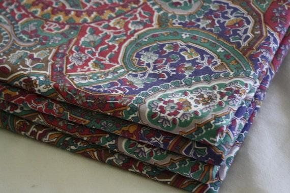 Paisley Fabric-Reclaimed-Jewel Tones
