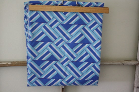 Retro Blue Fabric-Reclaimed Bed Linens