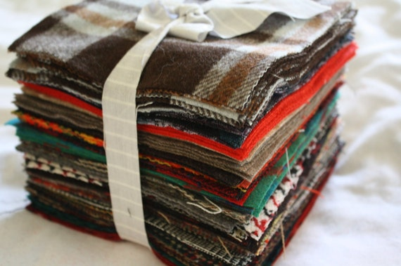 Wool Quilt Squares-6 Inch-Reclaimed Wool