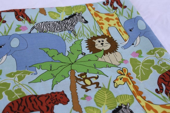 Juvenile Animal Fabric-Cotton Quilting-Zoo Animals