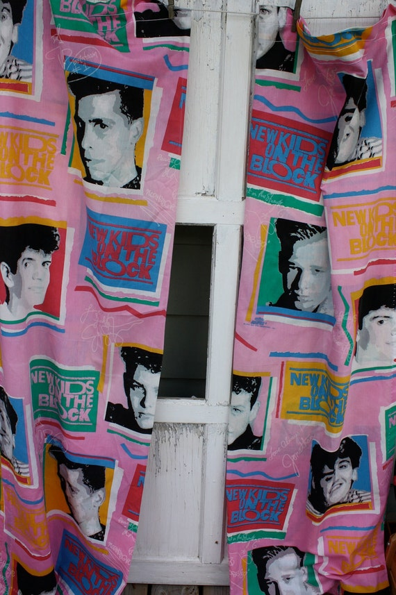 Vintage New Kids On the Block -Curtains