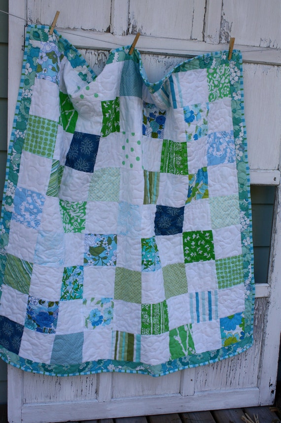 Upcycled Baby Quilt- Laughter and Dreams 3
